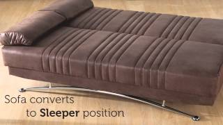 Fantasy Three Seat Sofa Sleeper With Storage In Brown