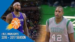 Al Horford vs DeMarcus Cousins NASTY BIG-MEN Duel 2016.12.02 - 54 Pts, 17 Rebs, 10 Blks Combined!!