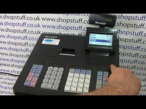 Sharp XE-A207 Cash Register Sales Demo & How To Use
