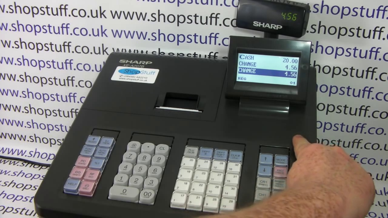 Sharp Xe A207 Cash Register Sales Demo How To Use