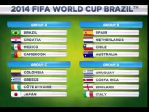 Чемпионат мира в Бразилии 2014 Таблица матчей