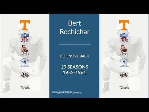 Bert Rechichar: Football Defensive Back and Kicker