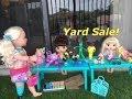 BABY ALIVE: Julie & Kelly have a Yard Sale!