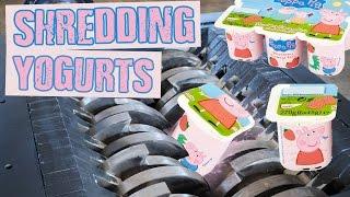 Shredding Peppa Pig Yogurts - Shredding Stuff