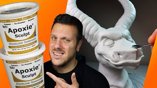 Making a GIANT Dragon Sculpture with APOXIE SCULPT (Epoxy Clay First Impressions + Sculpture)