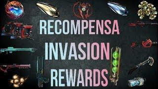 Warframe Recompensa de Invasiones  (Invasion Rewards)