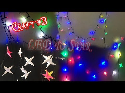 Simple Paper Craft for Light #3 | LED Star | DIY Paper Craft | Paper Star | Decor For Home