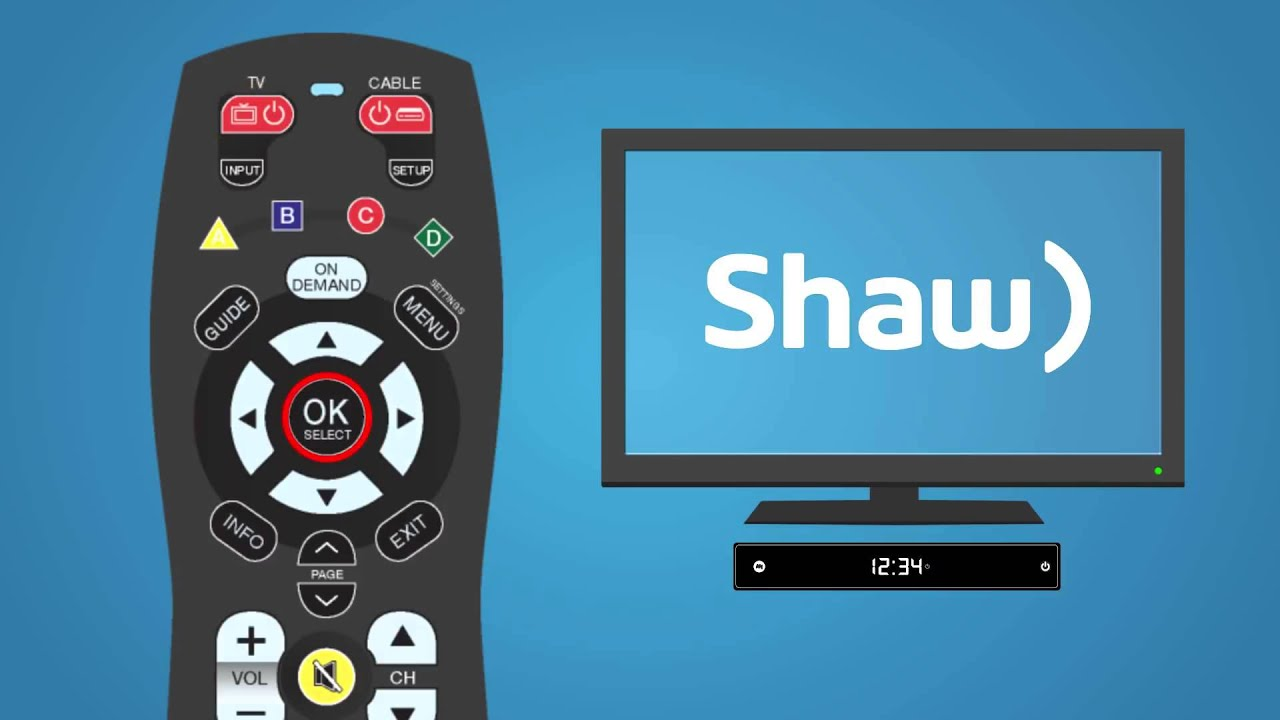 HOW TO - Program your Shaw Receiver Remote to Your TV