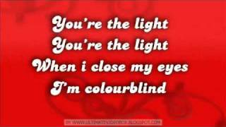 Darius - Colourblind Lyrics on Screen