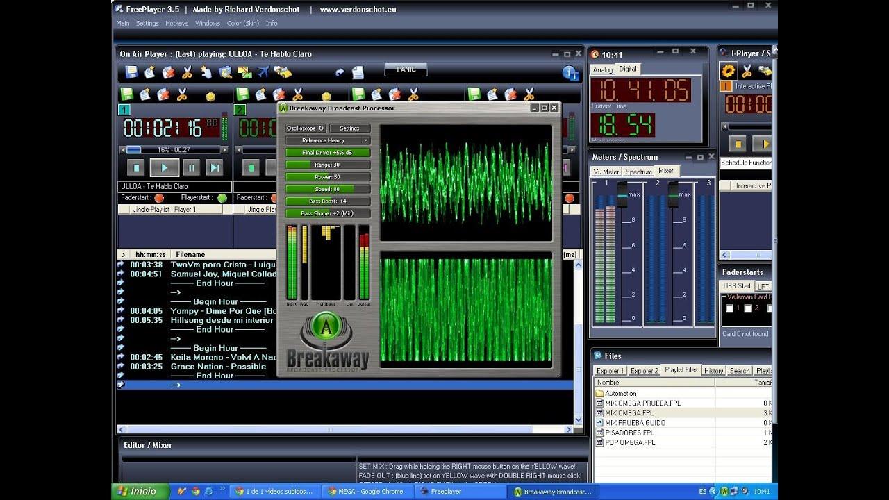 Breakaway broadcast setup 0 90 49