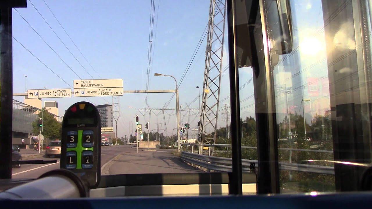 Helsinki Bus Ride HEL Airport to Tikkurila HSL Route 61 - YouTube