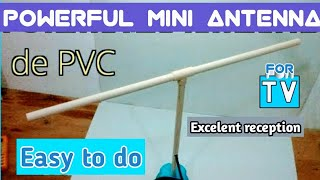 HOW TO MAKE A POWERFUL HDTV ANTENNA, with ALUMINUM paper and PVC