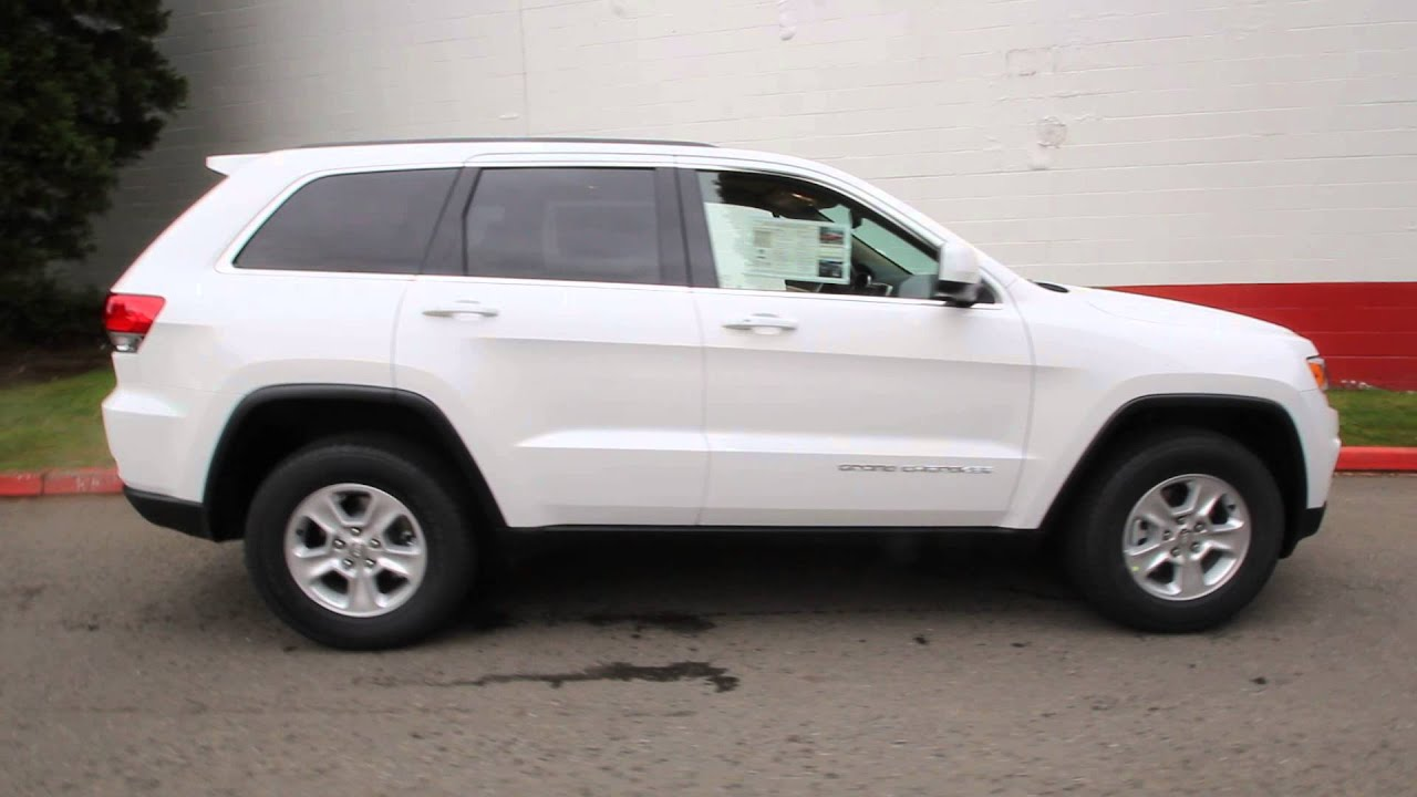 2014 jeep grand cherokee laredo white ec440180 seattle bellevue youtube. Black Bedroom Furniture Sets. Home Design Ideas