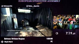 #ESA15Purple - Batman: Arkham Asylum [ Any% Hard ] Speedrun by Robosparkle