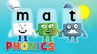Phonics - Learn to Read   The Cat Sat on the Mat   Letter Teams   Alphablocks