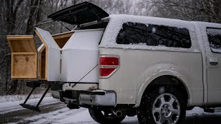 Truck Camping: DIY Slide Out Camper Extension to Sleep in the Bed of My F-150 Super Crew Pickup