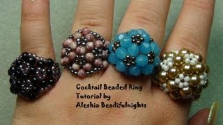 Cocktail Beaded Ring Tutorial