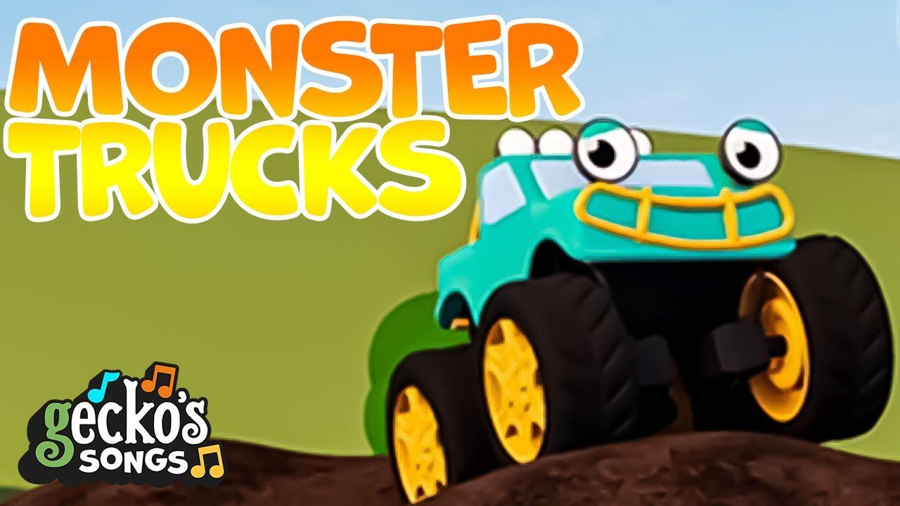 Monster Trucks... and more! Gecko's Garage Children's Music Trucks For Kids Gecko's Songs