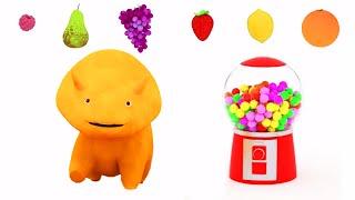 машина жевательная резинка: Учим фрукты с Динозавриком Дино