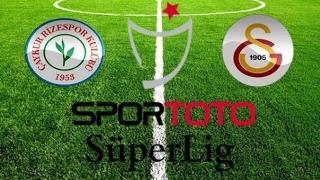 Çaykur Rizespor 1 - 1 Galatasaray Maçı  (Goller ve Tehlikeli Ataklar)