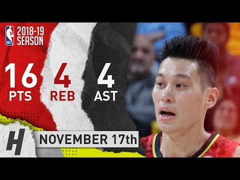 Jeremy Lin Full Highlights Hawks vs Pacers 2018.11.17 - 16 Pts, 4 Ast, 4 Rebounds!