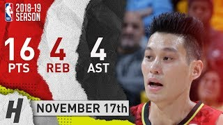 Jeremy Lin Full Highlights Hawks vs Pacers 2018.11.17 - 16 Pts, 4 Ast, 4 Rebounds! thumbnail