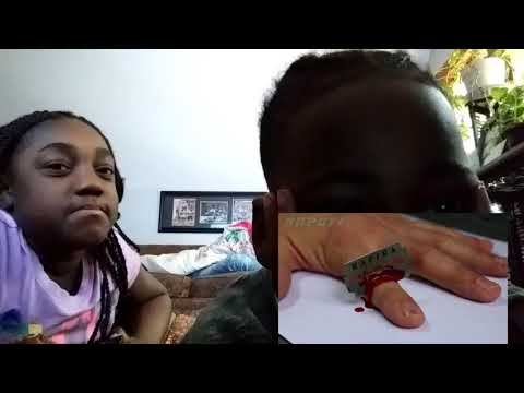 Download Reacting to Magic cutting finger trick (do not try this at home)