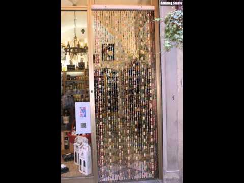 Wine Cork DIY Curtains