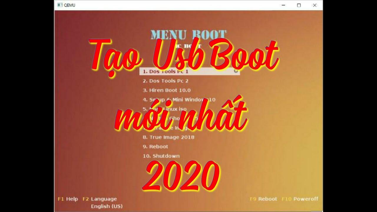 Đơn Giản tạo USB Boot Cứu Hộ Máy Tính mới nhất 2020 | MCboot by hoanchien V4.01