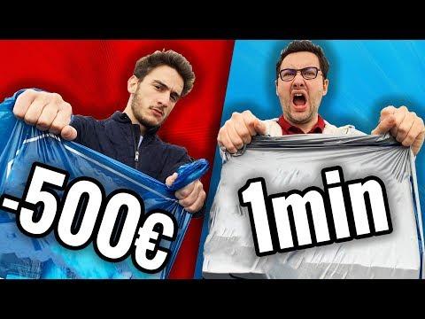 Dépenser 500€ en 1 minute ! (Challenge)