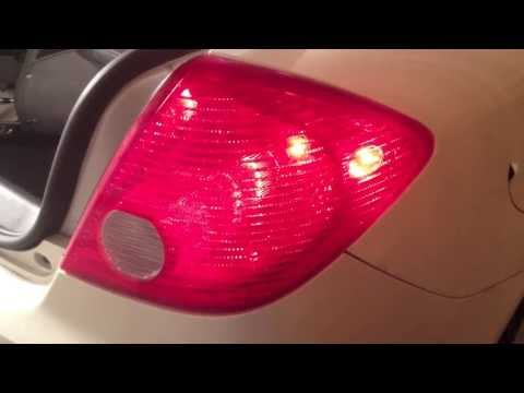 How To Change Rear Blinker on a Pontiac G6