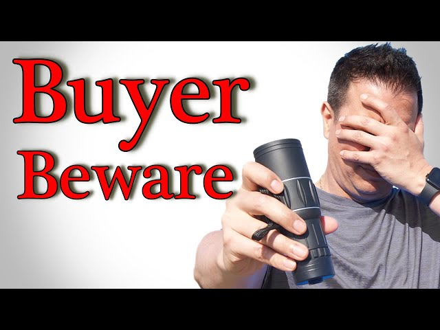 Buyer beware with this monocular scope