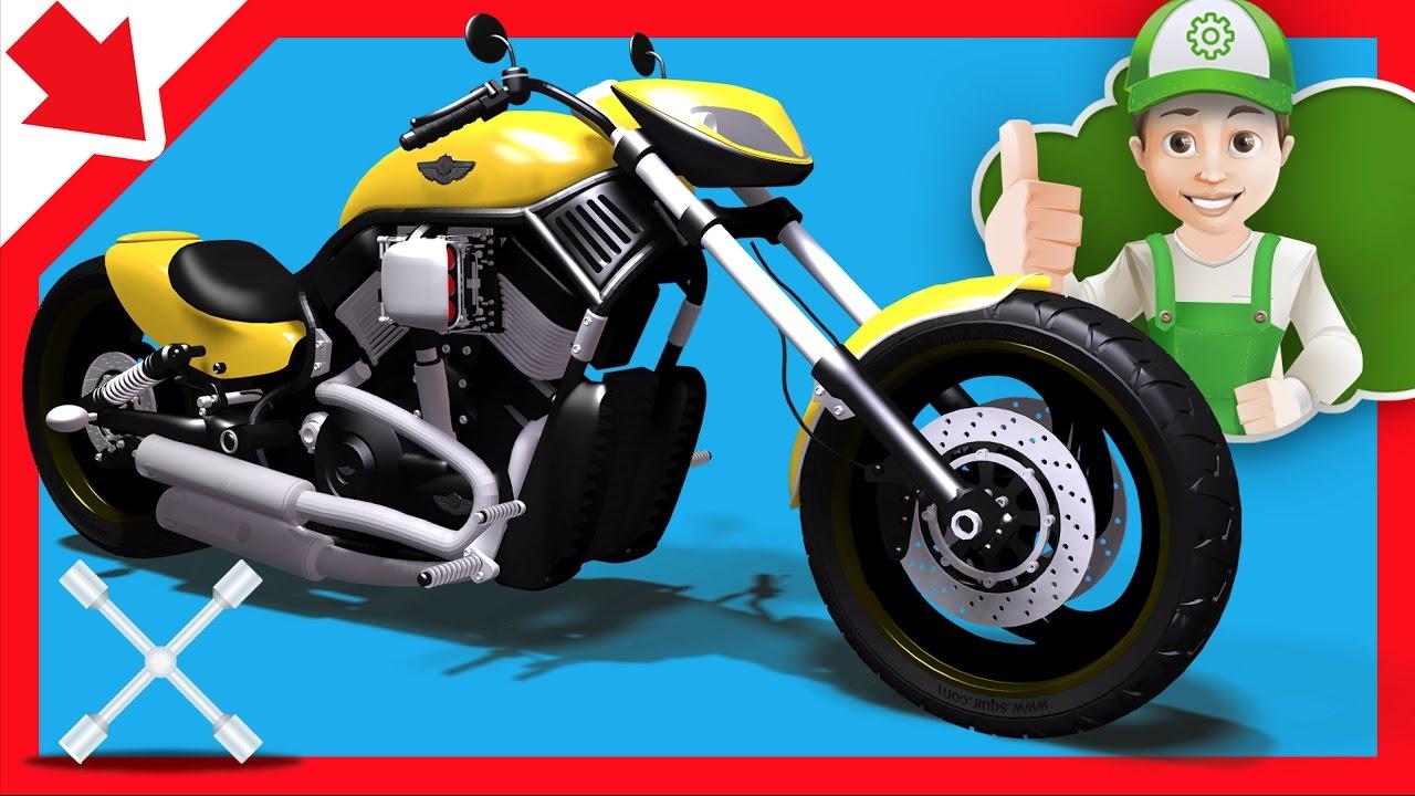 Moto Dibujos Animados Autos De Carrera Infantiles Moto Para Niños En Español Youtube