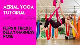 Aerial Dance | Aerial Yoga - Belay/Harness Tutorial | Flips & Tricks Class | CamiyogAIR