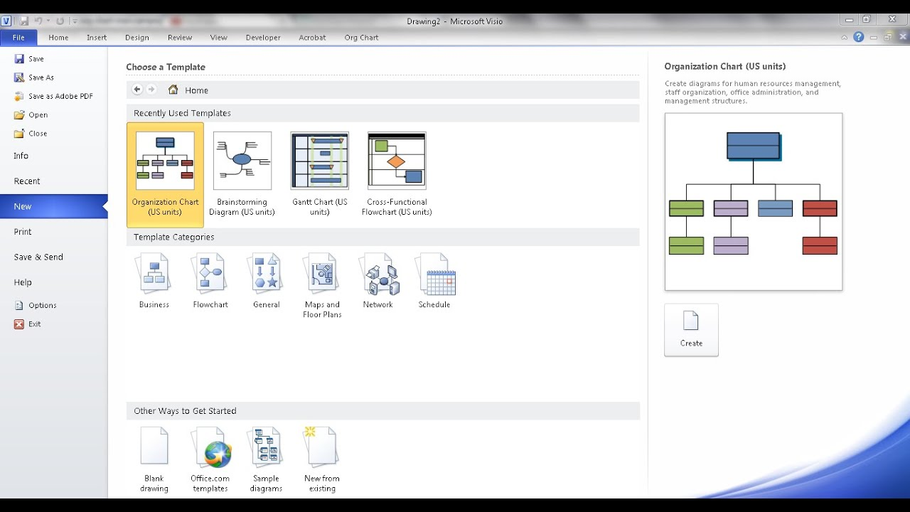 Create an org chart in visio using manual steps also youtube rh