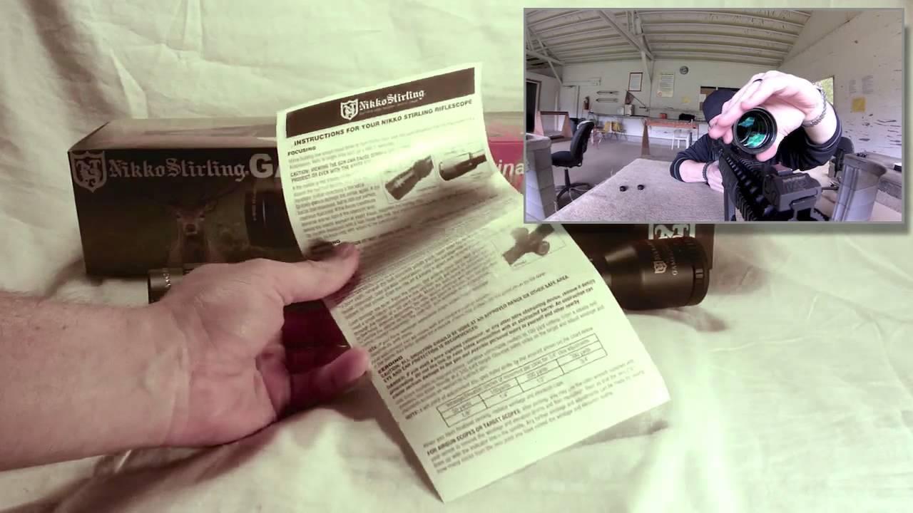 Nikko stirling targetmaster 4-16x44 manual.