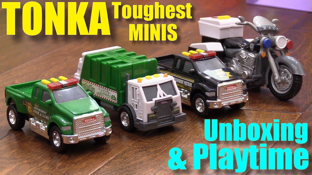 Toy Cars for Toddlers and Kids TONKA Toughest Minis Police Truck
