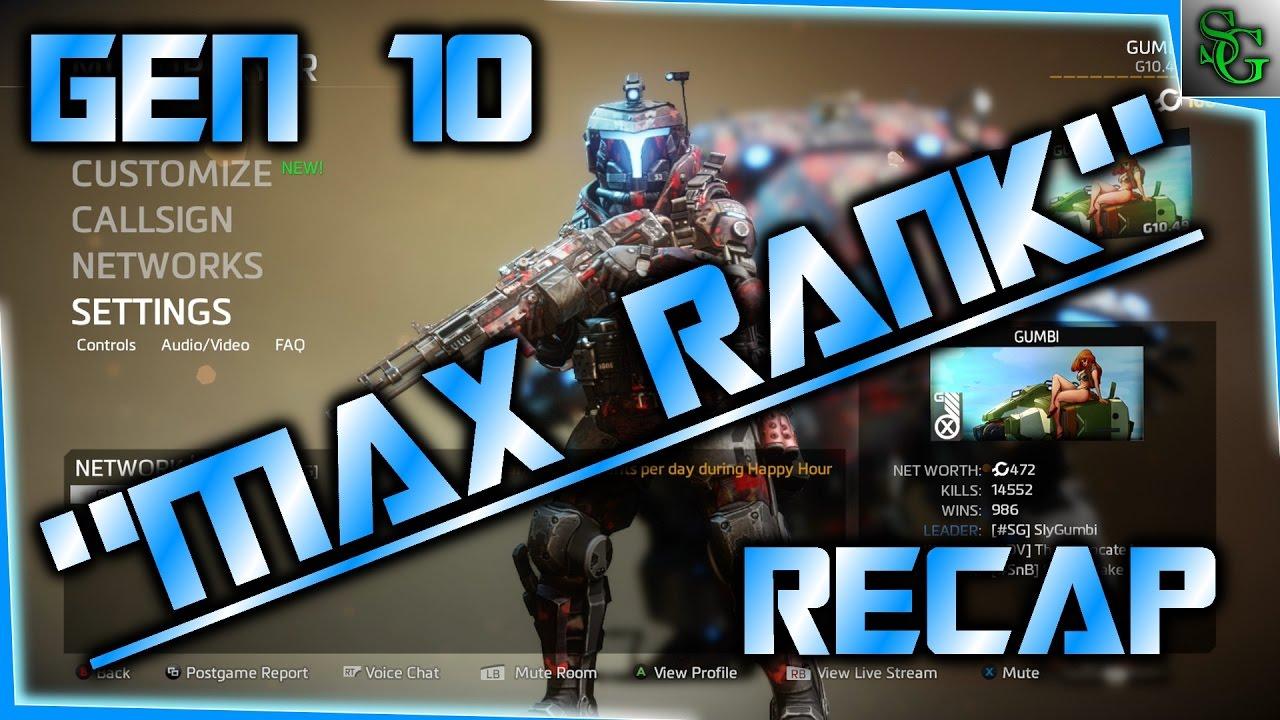 Titanfall 2 Gen 10 Max Rank Recap Guns Titans Loadouts