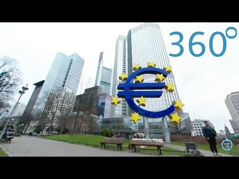 Frankfurt € sign Euro-Sign 360° ECB Bank