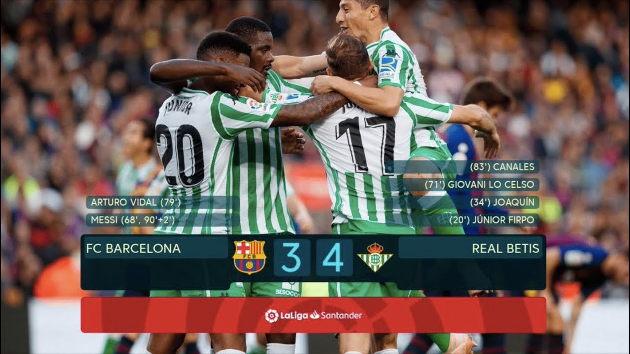 69ae8fd9d Barcelona vs Real Betis [3-4] - MATCH REVIEW - YouTube