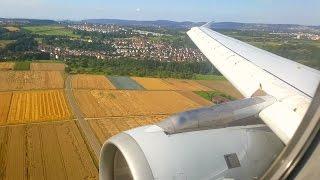 Sanfte Landung auf dem Flughafen Stuttgart  | Eurowings  | A320 | Germanwings