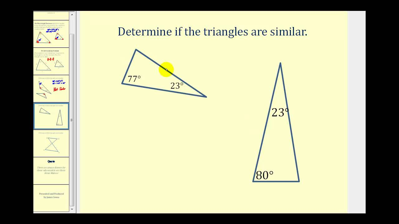 hight resolution of Similar Triangles (solutions