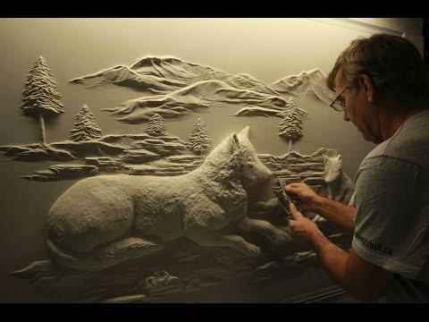 Drywall Art Sculpture by Bernie Mitchell