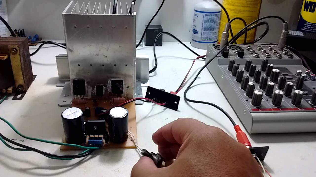 Amplificador De Audio Com Tip 142 E 147 Link Dos Arquivos Na 20w Amplifier Circuit Using Stk0025 Descrio Youtube