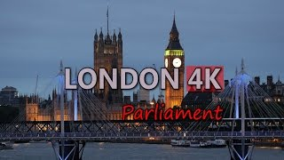 Ultra HD 4K London UK Houses of Parliament Travel Westminster Elizabeth Tower Video Stock Footage