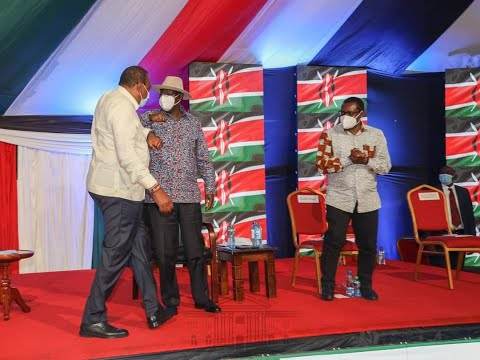 President Uhuru & Raila Odinga arrive at the KICC, they are expected to launch BBI signature drive