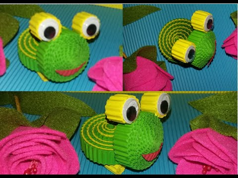 DIY Frog from corrugated paper / kokoru paper (easy and simple)