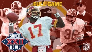 Super Bowl XXII: Doug Williams Defeats John Elway | Redskins vs. Broncos | NFL Full Game