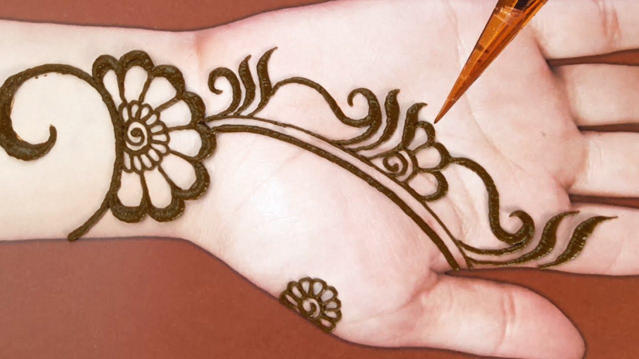 mehndi design arabic easy for front hand 2019