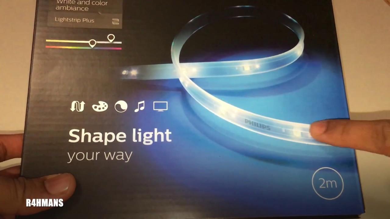 unboxing philips hue light strip youtube. Black Bedroom Furniture Sets. Home Design Ideas